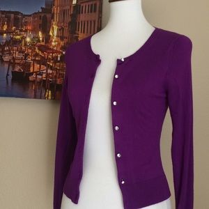 Purple royalty color Express button down Sweater